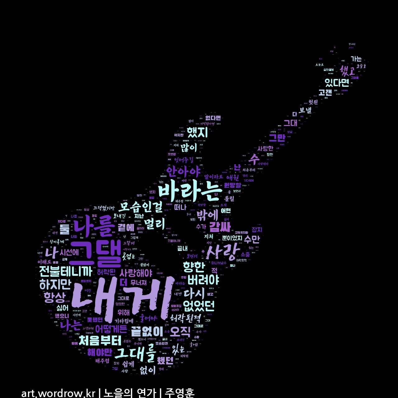 워드 클라우드: 노을의 연가 [주영훈]-36